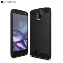 Shockproof Carbon Fiber Soft Tpu Silicone Back Cover Phone Case For Motorola <strong>Z</strong> force