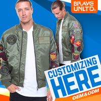 Wholesale Fashion Custom Bomber Jacket With