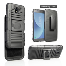 dual layer tpu pc cell phone combo holster case for samsung J7 2017 J730 J7 pro