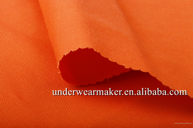 High Quality TC fabric Orange Yarn Dyed Polyester Cotton Twill Fabric Wholesale For work wear Fabric