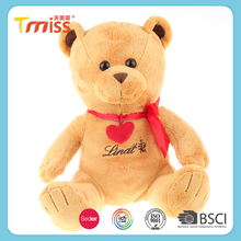High quality soft washable teddy bears toys with bow tie embroidery teddy bear