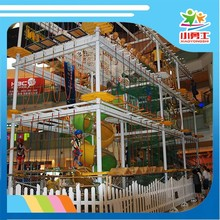 Galvanized pipe Funny Kids indoor playground rope course