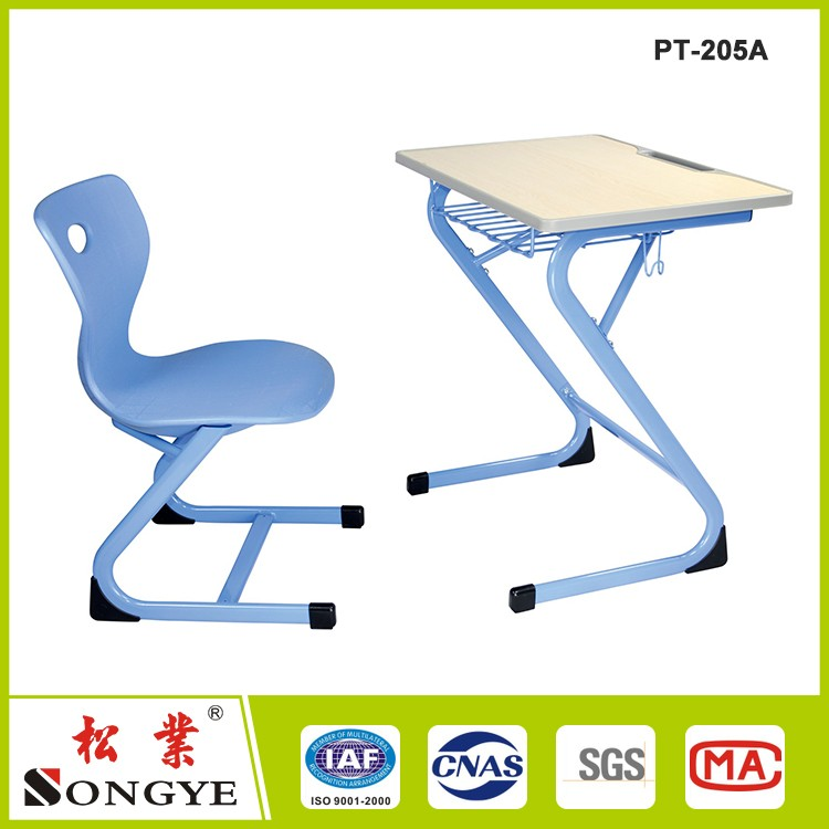High Quality School Classroom Furniture Single Student Desk and Chair