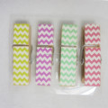 4 colors stripe wooden solid clips good quality hot sale cloth clips
