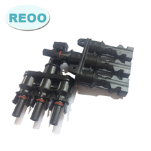 REOO MC4 Solar T Branch Connector Waterproof IP67 PV Connector Male And Female For Sale