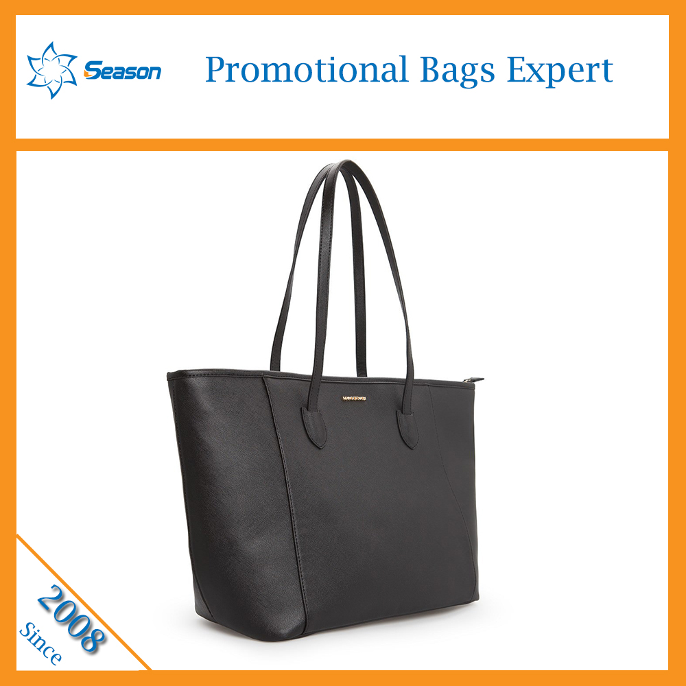 New stock PU leather handbags shoulder tote bag big size for ladies