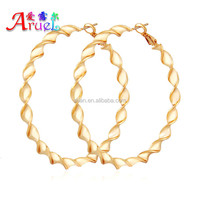 wholesale have spot hot sell popular luxury styles hoop shape basketball wife big size plated 18 k gold earrings