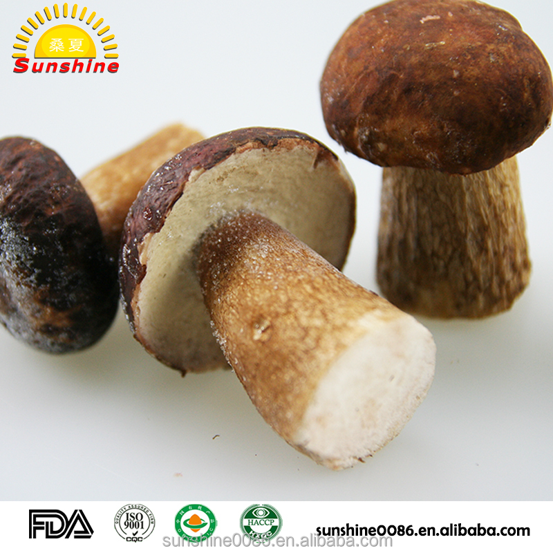 Organic Fresh Frozen Whole White Edulis boletus mushroom