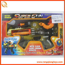 Newest plastic b/o toy gun with sound and light GS9239250
