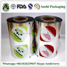 multi layer laminated aluminum foil laminated roll film for cup sealing