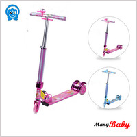 2015 newest aluminun baby scooter kids three wheel outdoor toys ride on scooter,