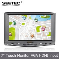 Widescreen 7 inch touch panel lcd mini av input tft screen flexible high brightness industrial monitor car