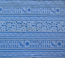 Cotton Nylon with Cord Yarn Mahjong Design Lace Fabric