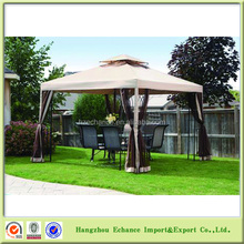 Outdoor garden wind proof gazebo with sidewall & mosquito netting Roman gazebo tent for sale-F4505