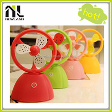 2015 Top selling high quality fruit style rechargeable mini usb fan