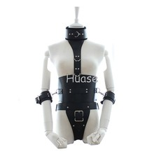 Sexy Bondage Costume Bondage Collar With Leather Corset Harness