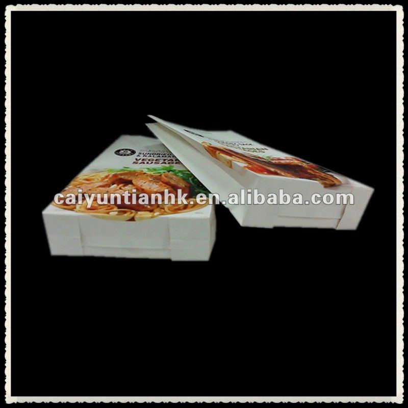 stand up greaseproof paper food bag with euro slot/hot food paper bag