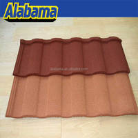 cost effective decora roofing tiles, galvanized steel roof tile, stone chip coated metal roof tile sheet