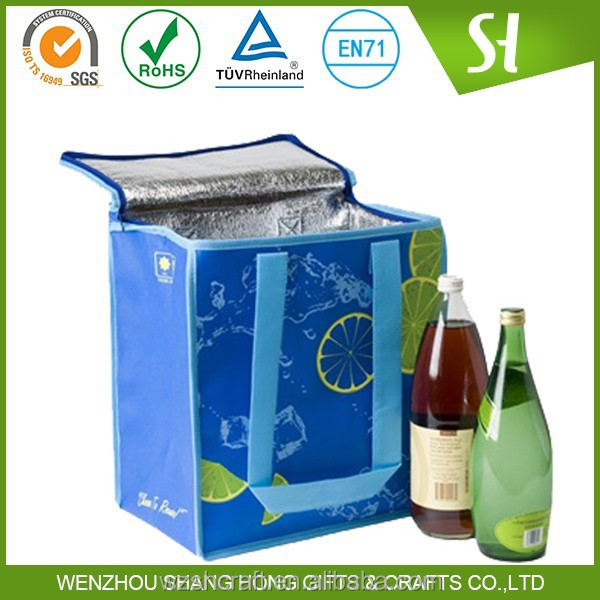 Alibaba China Cheap customized gel wine cooler bag