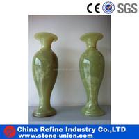 China A grade green onyx decorated vase