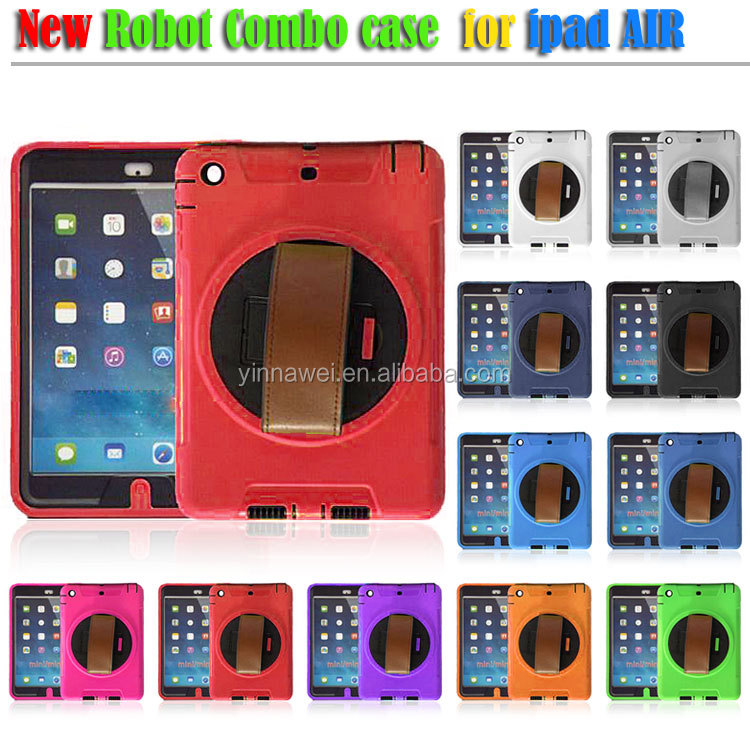Scratchproof and rainproof rotating kickstand shell case for ipad air