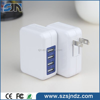 4 Ports USB Quick Charge 2.0 Universal 2 amp usb wall charger for Mobile Devices Such As iPhone/iPad