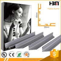 china suppliers 50mm and 65 mm double use 6063 Alloy anodized aluminium profiles advertising frames stand extrusion