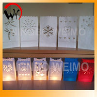 hot sales flame luminary lantern paper candle bags