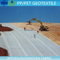 8m width polyester felt needle punch nonwoven fabric geotextile