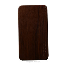2015 Factory New Style Fashion 5v 4000mah wood Power Bank Charger For Mobile Phone
