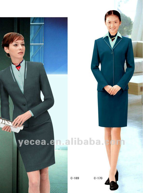 Dames modernes bureau uniforme costumes et smoking id de for Bureau uniform