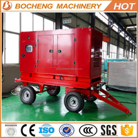 Mobile power station Trailer mounted 30KVA generator set dielsel engine with CE silent type