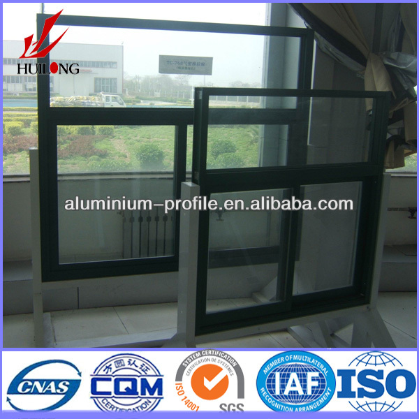 Anodized and powder coated aluminum sandwich panel door