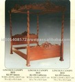 Lincoln Canopy Bed Mahogany Indoor Furniture.