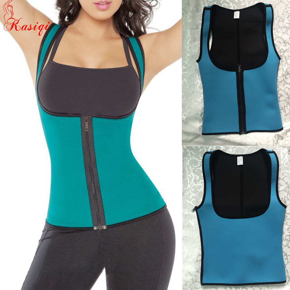 Fitness Women Reversible neoprene Vest Fajate Virtual Fat Burner Sweat corset shaper vest for slimming
