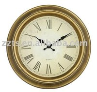 Classical antique wall clock, 16 inch plastic wall clock