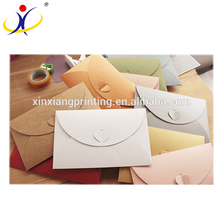Popular Customized Colorful Specialty Paper Envelope Set with Letter