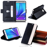 Guangzhou Factory Luxurious Cover PU Leather Phone Case For Samsung Note 5 Edge