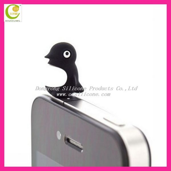 Mobile Accessory Cute Animal Shape Silicone Ear Dust Plug for Cell Phone, 3.5mm Earphone Dust Plug