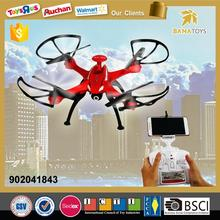 Free Shipping 6-axis gyro rc quadcopter drone with hd camera and light