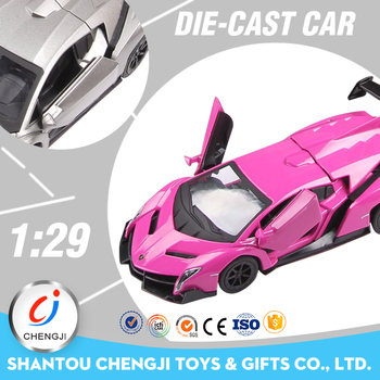 Custom 1:29 scale model miniature metal die cast toy car