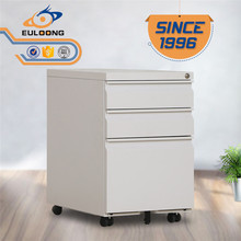 With 20 Years Experienced Manufacturer Light Gray Metal 3 Drawer Mobile Pedestal Cabinet