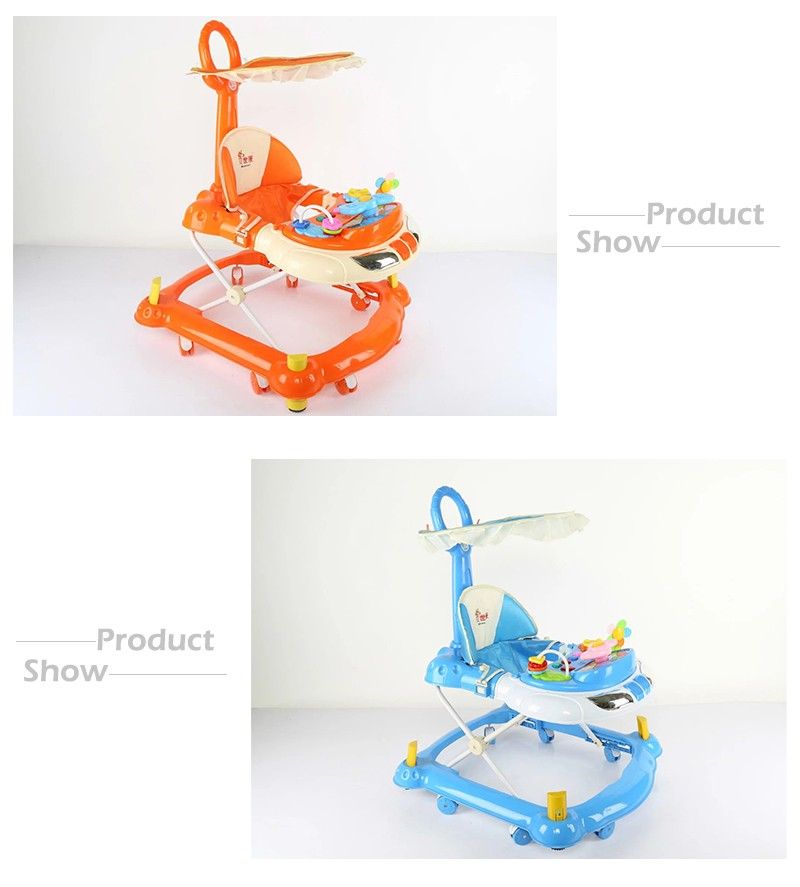 Alibaba Trade Assurance 2017 best smart musical hippo pusher stationary baby walker