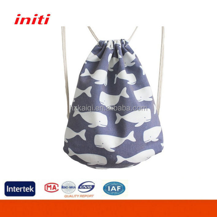 INITI 2016 Wholesale High Quality Drawstring Cotton Bag for Shopping