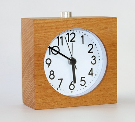 Made of real wood wooden table alarm clock
