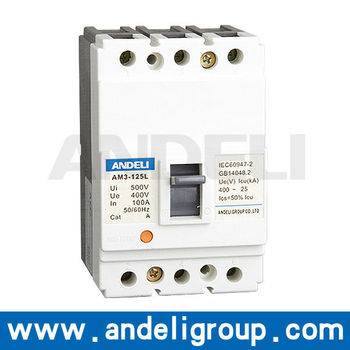 AM3 series mccb moulded case electric circuit breaker 100a 125a mccb prices