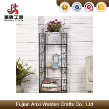 Three tier home garden iron plants flowers pots indoor storage rack standing shelf