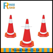 700mm 2.7kg red road safety warning rubber traffic cones