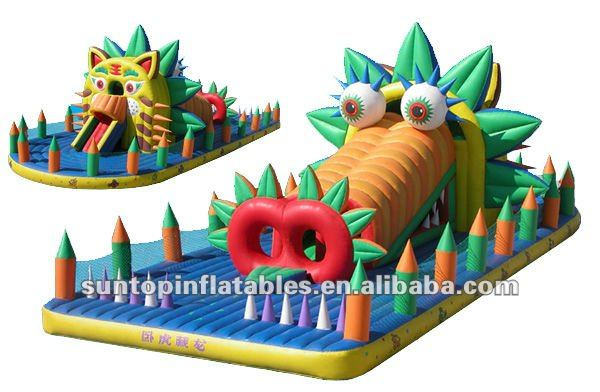 fun and exciting commercial inflatable animal tiger dinosaur amusement park playground for children