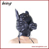 Special Design Horse Head Shape Hoods Ear and Eye Restraint Leather Harness Mask BDSM Game LS-188